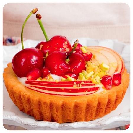 Tortinha de frutas frescas da Dani Noce