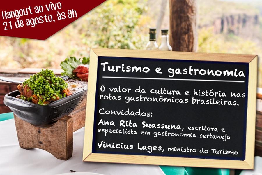 Gastronomia e turismo discutidos em hangout