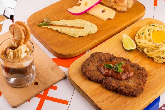 5 - Paillard Milanesa com Tagliatelle com ovo caipira e crocante de castanhas_BelliniCafe