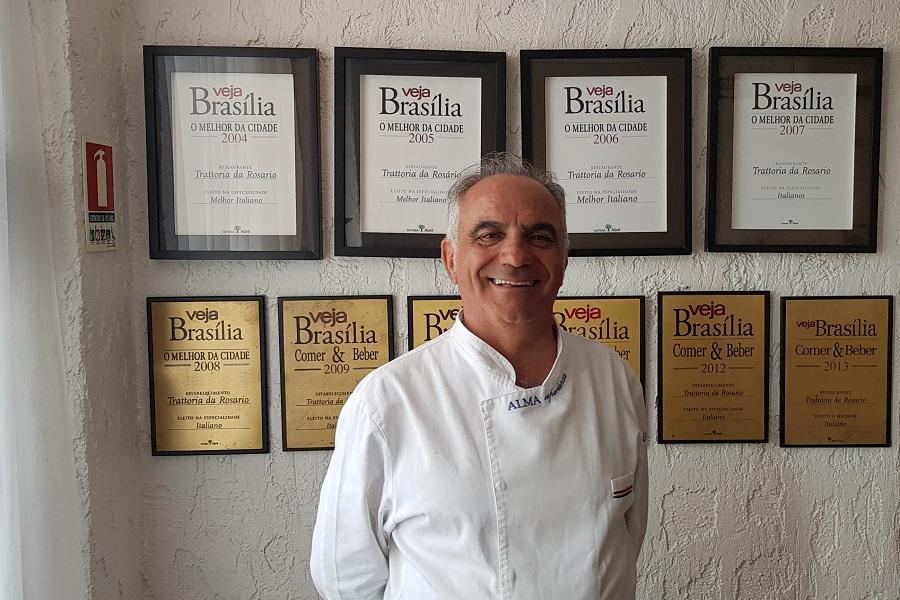 O chef napolitano Rosario Tessier, da Trattoria da Rosario - foto Luciana Barbo