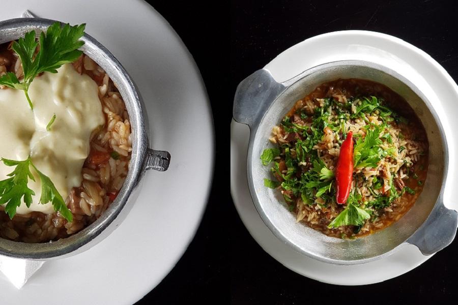 Panelinha de carne de sol e arroz de rabada, do Tio Armênio
