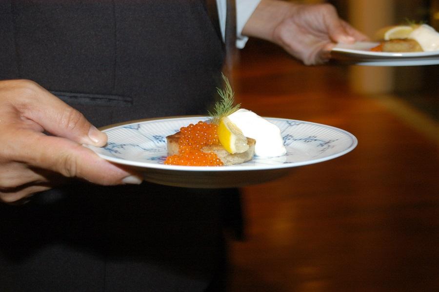 Festa de Babette - Blinis Demidoff com smetana e ovas de salmão