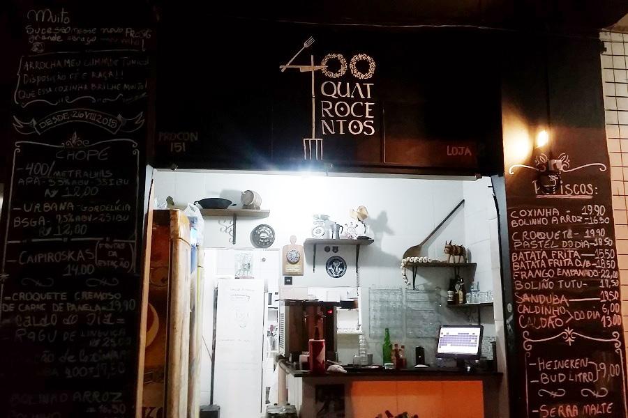 400 Bar tem comida de boteco muito da boa
