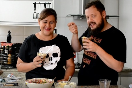 LU & BETO Na Cozinha – ceviche com chantilly de wasabi