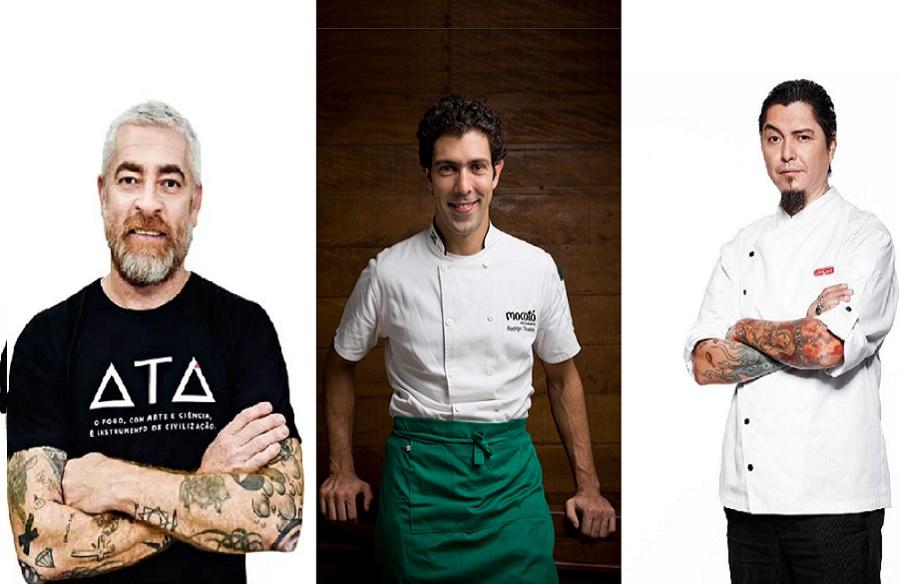 Alex Atala, Rodrigo Oliveira e Checho Gonzales assinam pizzas para Napoli Centrale