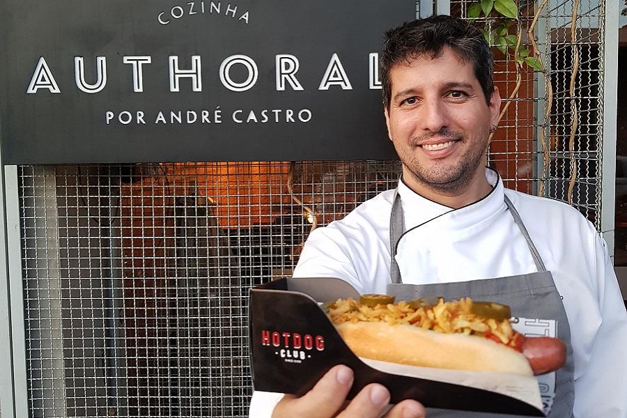 Chef André Castro assina nova receita do Hot Dog Club
