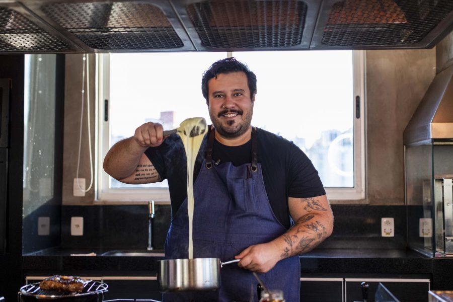 Chef Caio Soter inaugura série de jantares na Belini