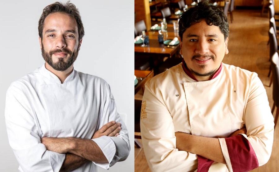 Elia Schramm cozinha em Brasília com Marco Espinoza
